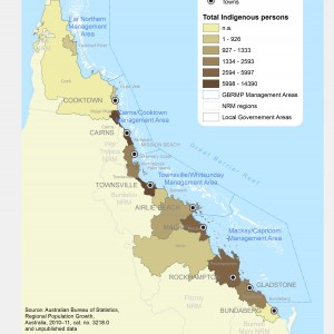 GBR Coastal Communities Number of Indigenous Residents by LGA 2012 (ABS data)