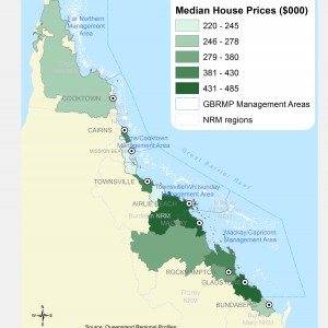 Median house prices, by Local Government Area ($000)