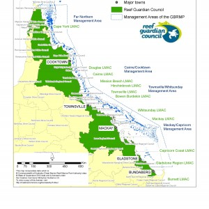 LGAs Represented in GBRMPA Reef Guardians Council 2012