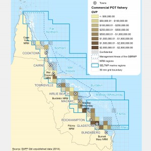 Commercial POT Fishing GVP within GBR fishing grids in 2013.
