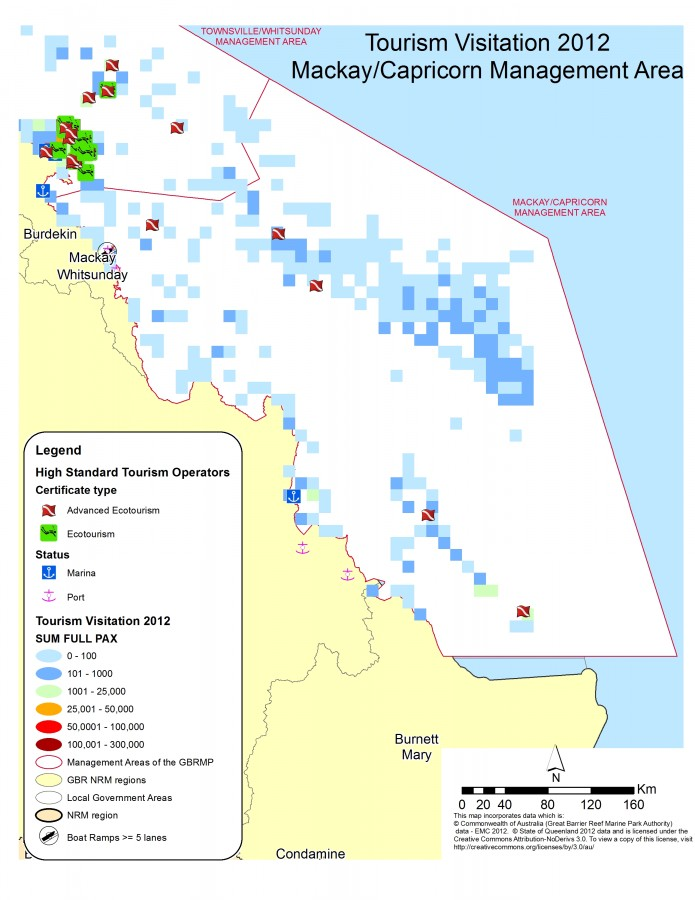 Mckay Australia Map.Visited Location In The Gbr And Point Of Interest Between Mackay